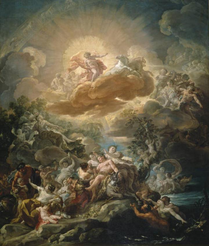 'El nacimiento del Sol y el triunfo de Baco