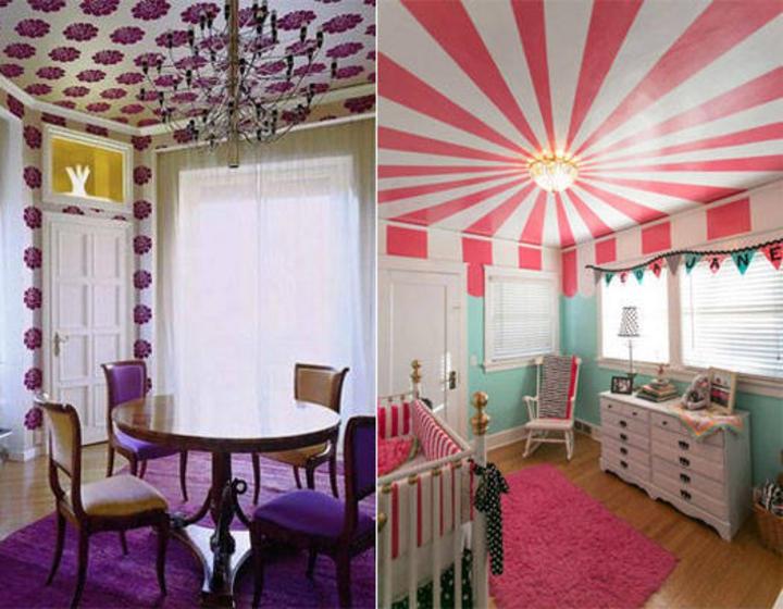 Y ahora papel tapiz para el techo - Papel para techos ...