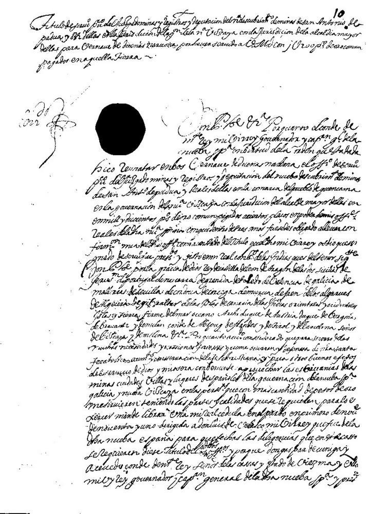 El primer escribano público, en Cuencamé, 1602