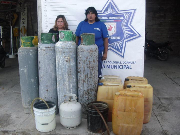 Detienen a cuatro por vender gasolina y gas LP