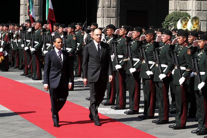 Recibe EPN al primer ministro italiano
