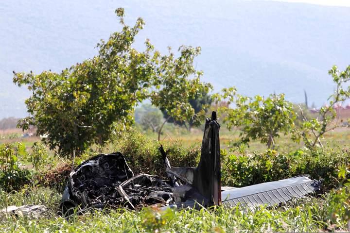 Se desploma avioneta militar en Puebla