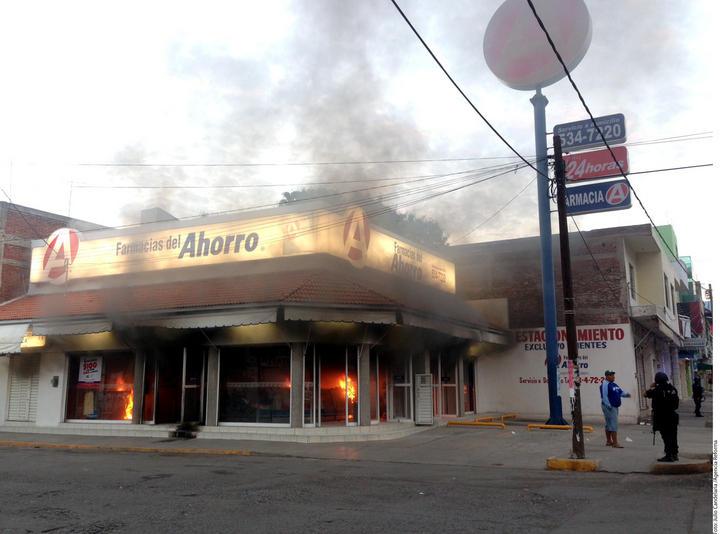 Cae presunto responsable de incendiar farmacia en Apatzingán