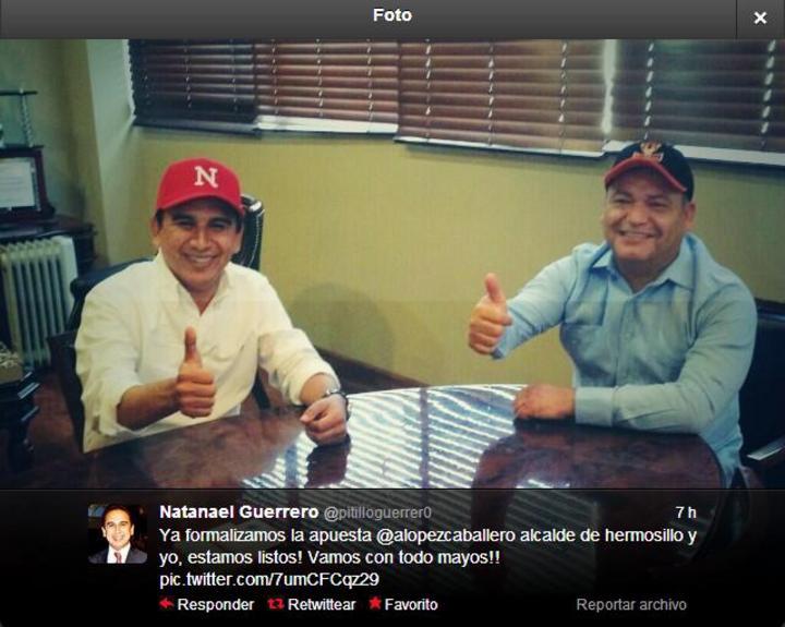 Alcaldes de Sonora apuestan una quincena por final de beisbol