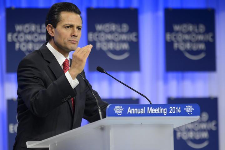 Resalta EPN en Davos la estabilidad macroeconómica de México