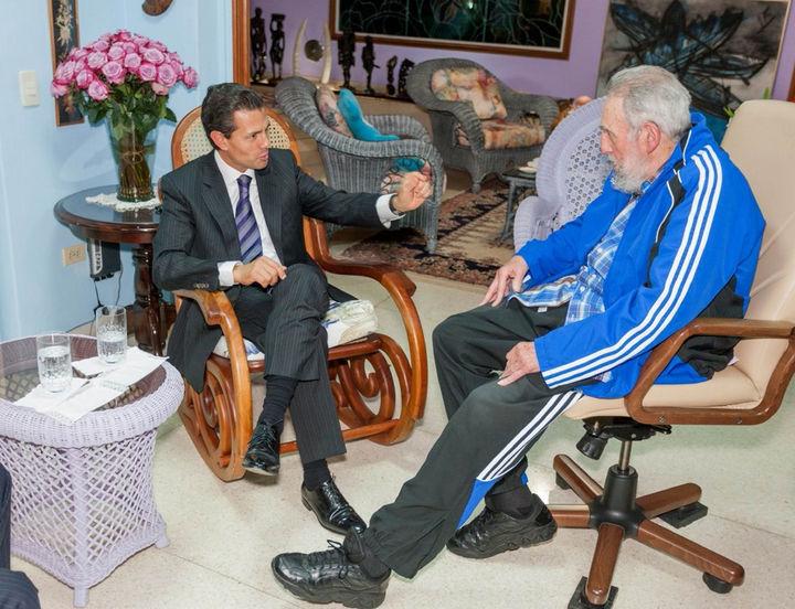 Sostiene Peña Nieto una reunión con Fidel Castro