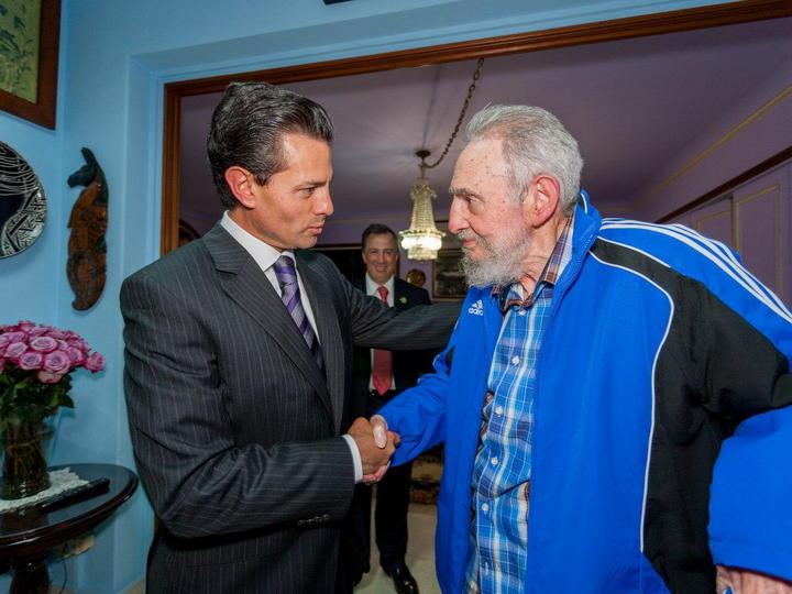 Reafirmó EPN a Castro lazos de amistad entre México y Cuba