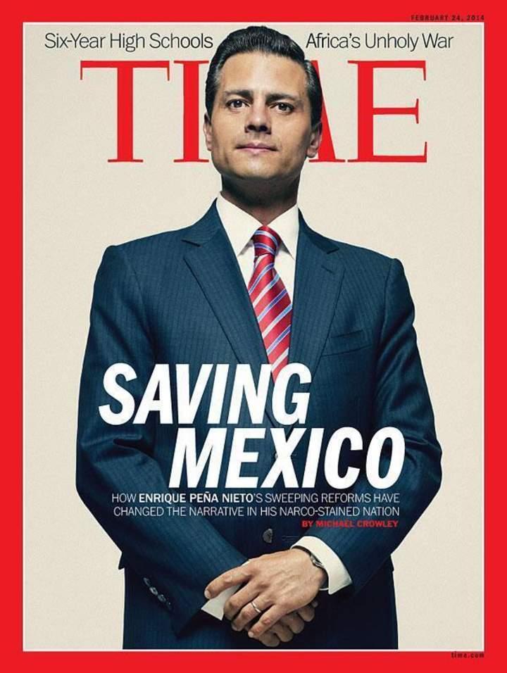 Aparece Peña Nieto en la portada de Time