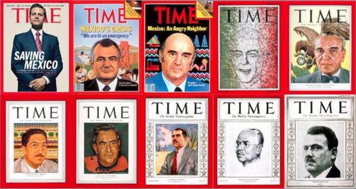 Presidentes mexicanos en la portada de Time