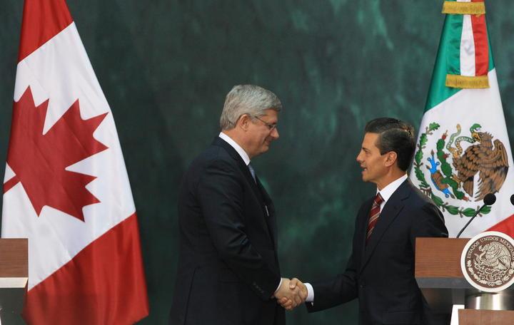 Acuerdan EPN y Harper unir esfuerzos en seguridad y justicia