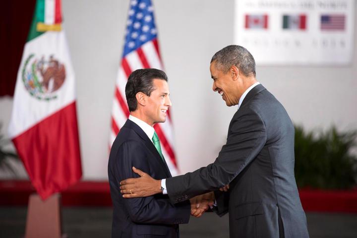 Se reúnen Peña y Obama en privado