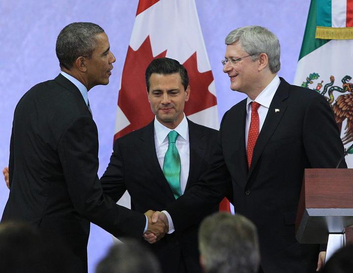 Líderes de Norteamérica pactan mantener frente contra tráfico de drogas