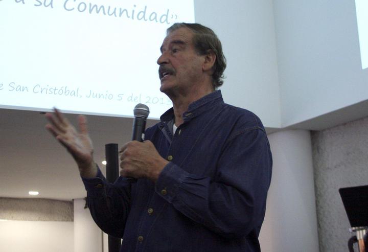 Vicente Fox felicita a los que participaron en detención de