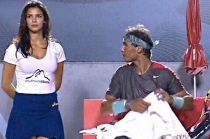 Recogepelotas roba la atención de Rafael Nadal