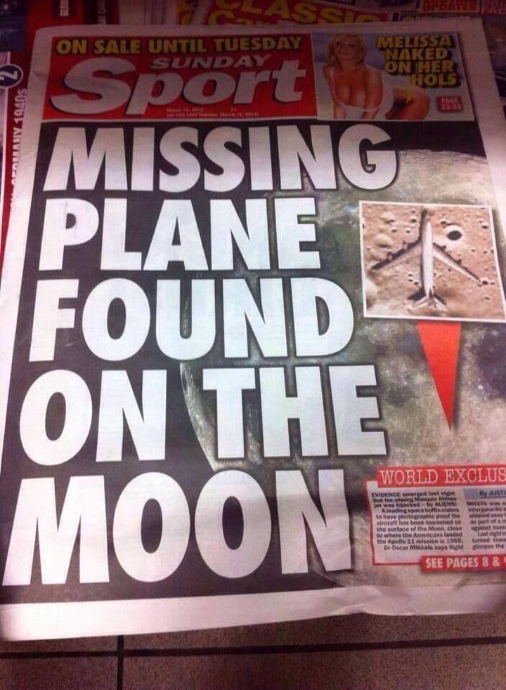¿Encuentran al avión perdido de Malaysia Airlines en la Luna?