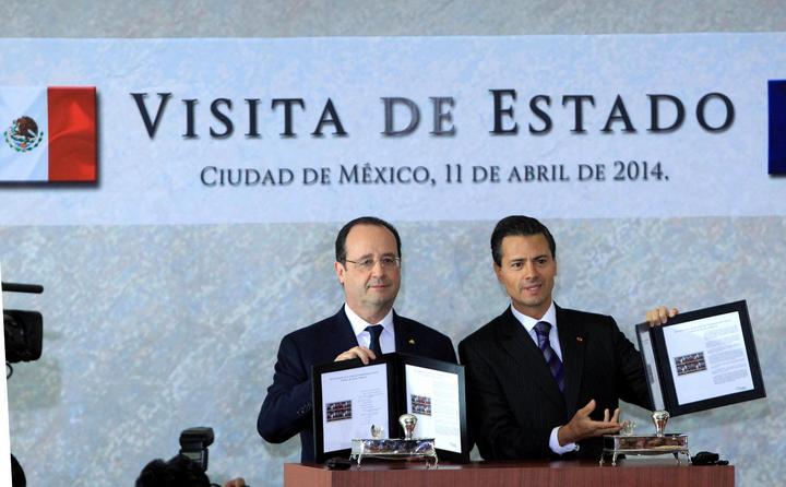 EPN y Hollande inauguran campus aeronáutico en Querétaro