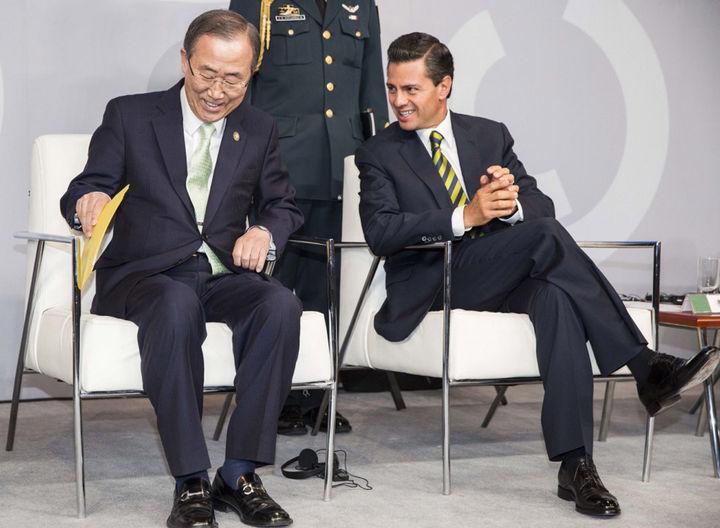Peña Nieto recibe a Ban Ki-moon en Los Pinos