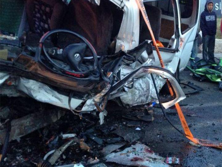 Se registran cinco muertos en accidente carretero en Chiapas
