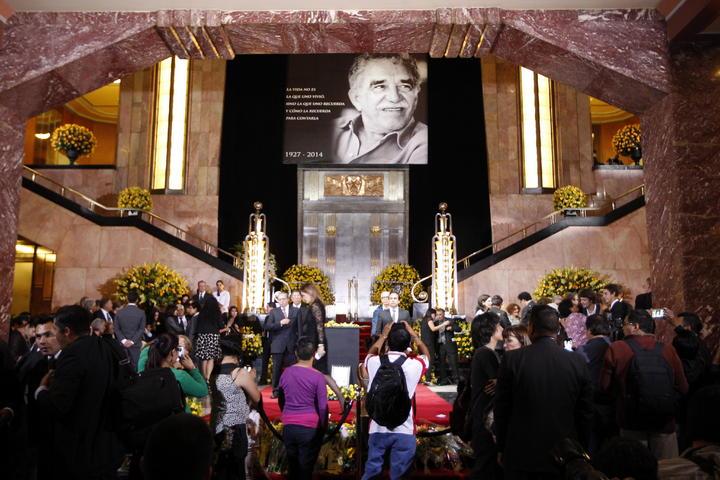 Inicia homenaje para despedir a García Márquez