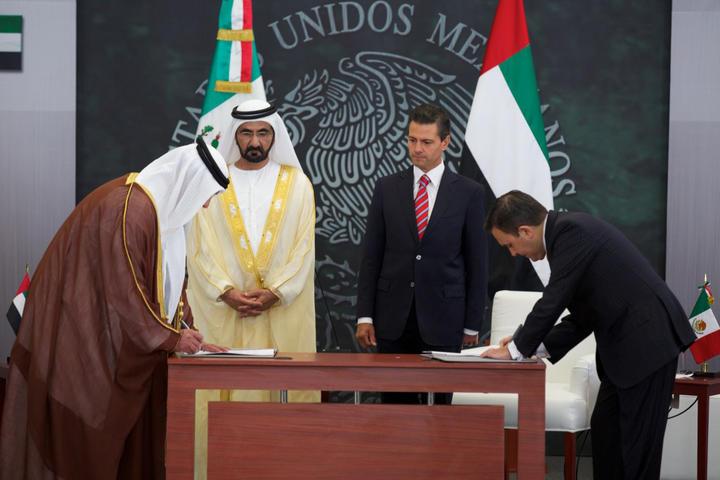 Reciben al ministro de Emiratos Árabes