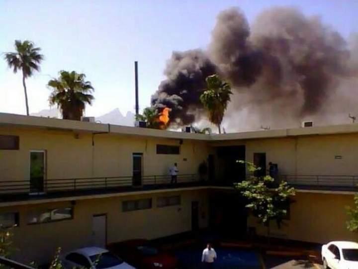 Se registra incendio en fábrica de Monterrey
