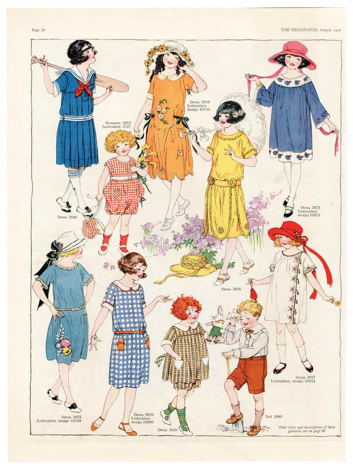 La evolución de la ropa infantil
