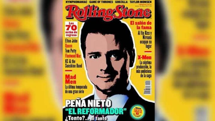 Llega Peña Nieto a portada de