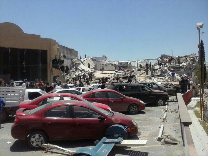 Reportan explosión en plaza comercial de Reynosa