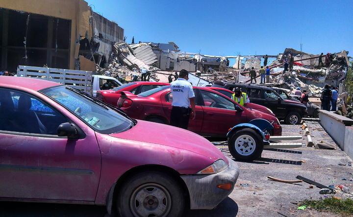 Siguen 5 en hospitales tras explosión en Reynosa