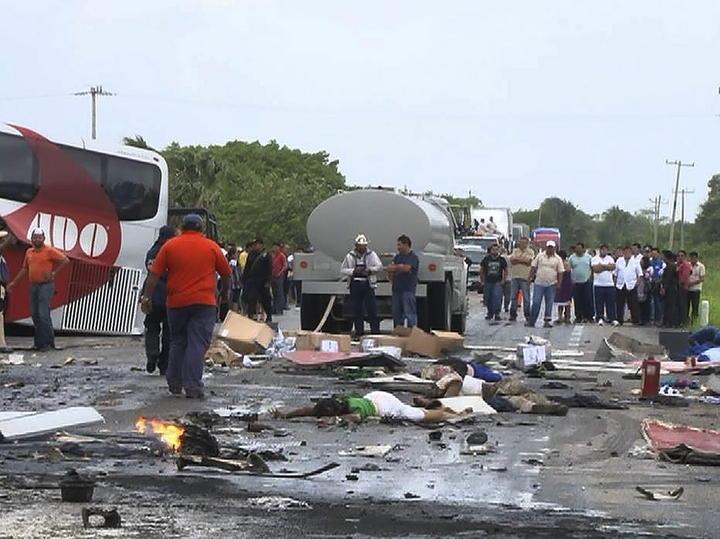 Chofer no está entre muertos por choque en Campeche: PGJE