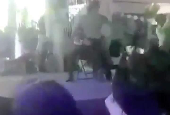 Denuncian festejo con strippers en primaria del Edomex