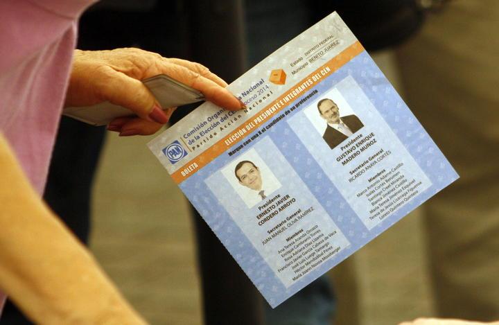 Termina cómputo de elección panista; Madero ganó con 57.14%