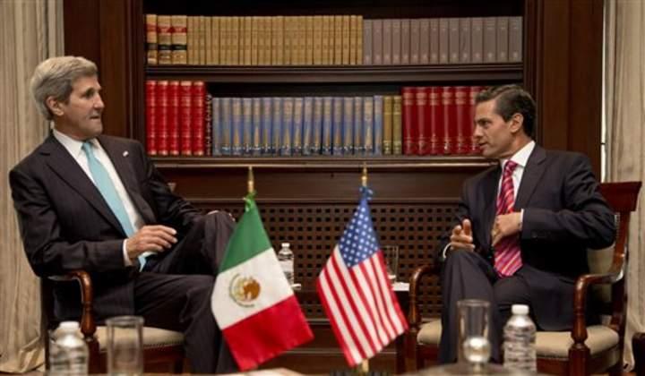 Sostiene EPN encuentro con Kerry en Los Pinos