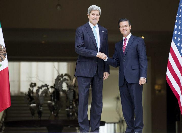 Destacan Kerry y EPN coordinación bilateral