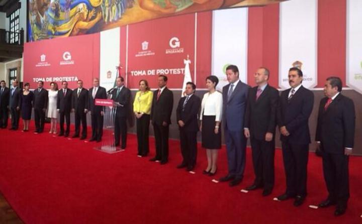 Eruviel Ávila toma protesta a 5 nuevos funcionarios