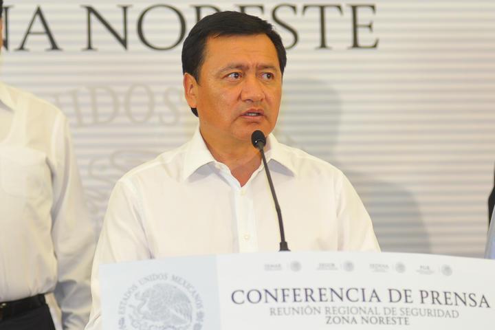 Comparece Osorio Chong por tema de seguridad