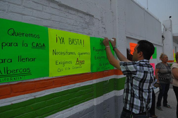 Protestan en Simas por la falta de agua