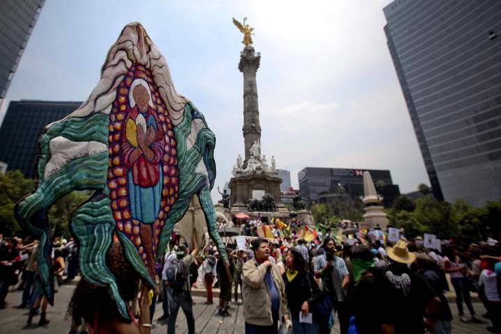 Marchan contra el maíz trasgénico