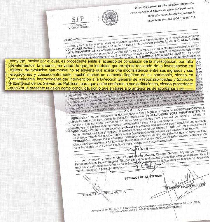 Exoneran a exvocera de Felipe Calderón
