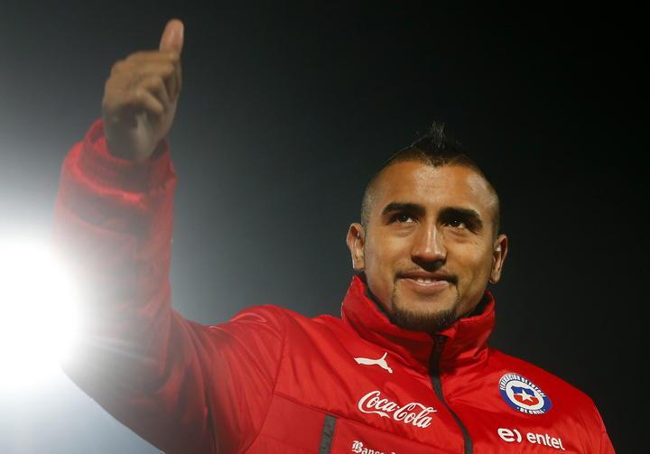 Chile entrena con Arturo Vidal