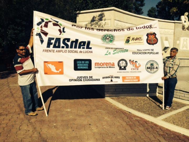 Protesta Frente por las reformas de EPN