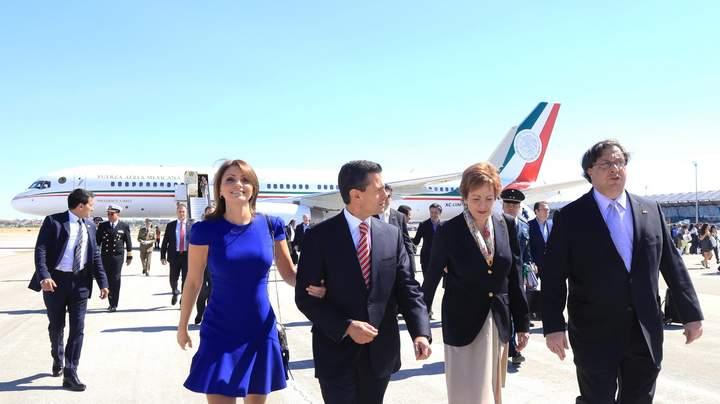 Llega EPN a España para visita de Estado