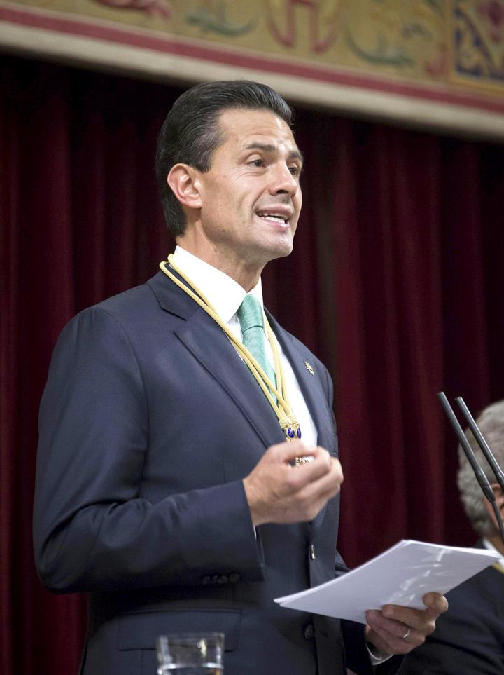 Reconoce EPN en España a partidos por