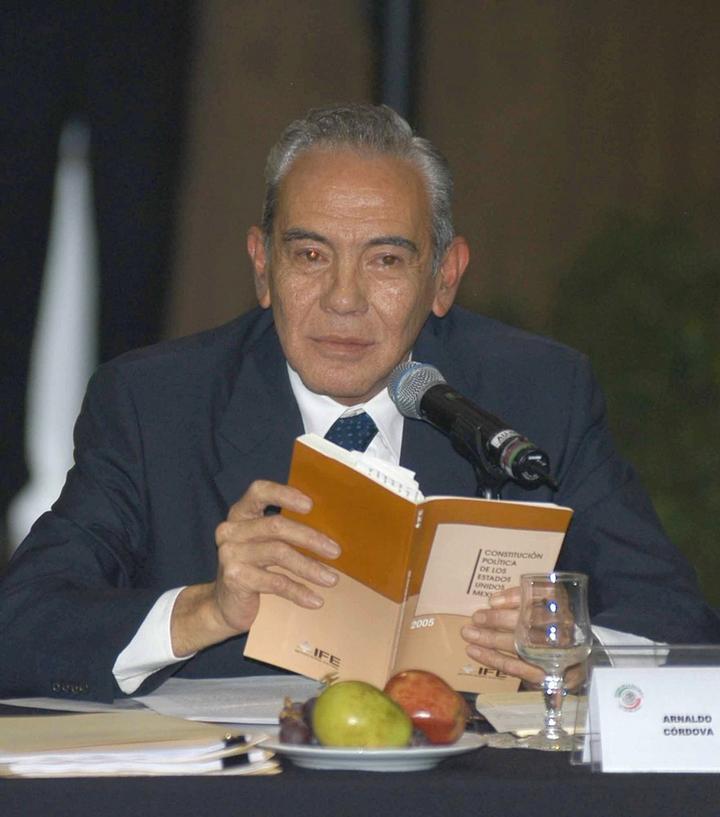 Fallece el historiador y politólogo Arnaldo Córdova