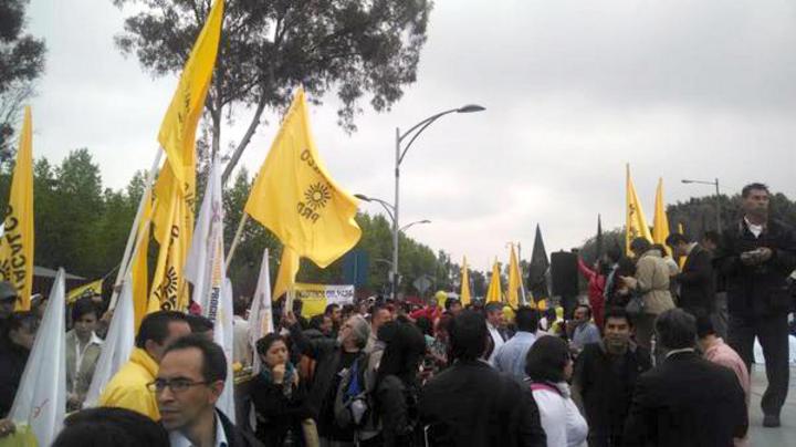 Protestan en San Lázaro contra energética