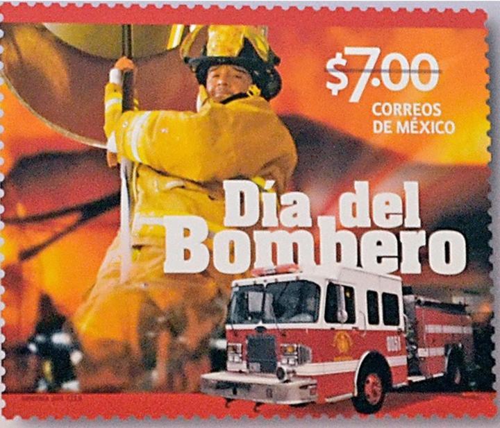 Reconocen al Heroico Cuerpo de Bomberos con estampilla postal