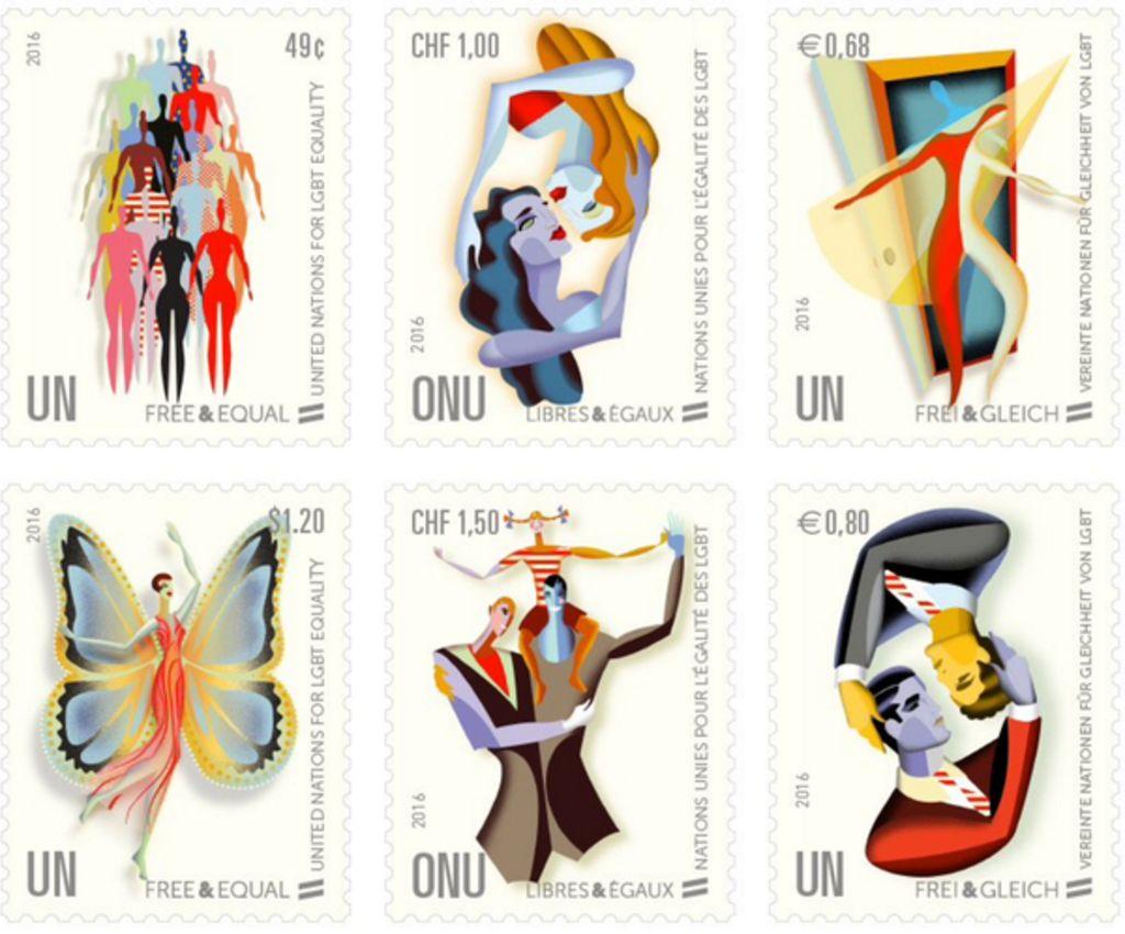 lanza onu sellos postales