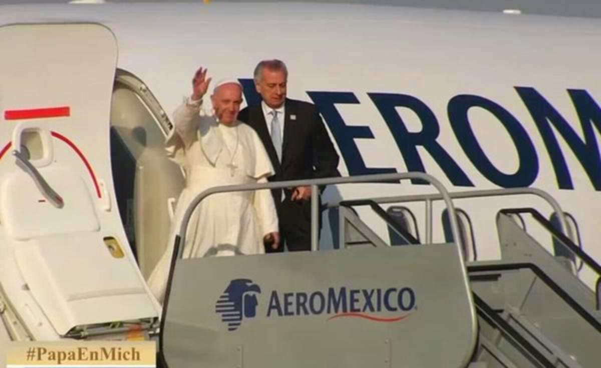 Llega Papa Francisco a Morelia