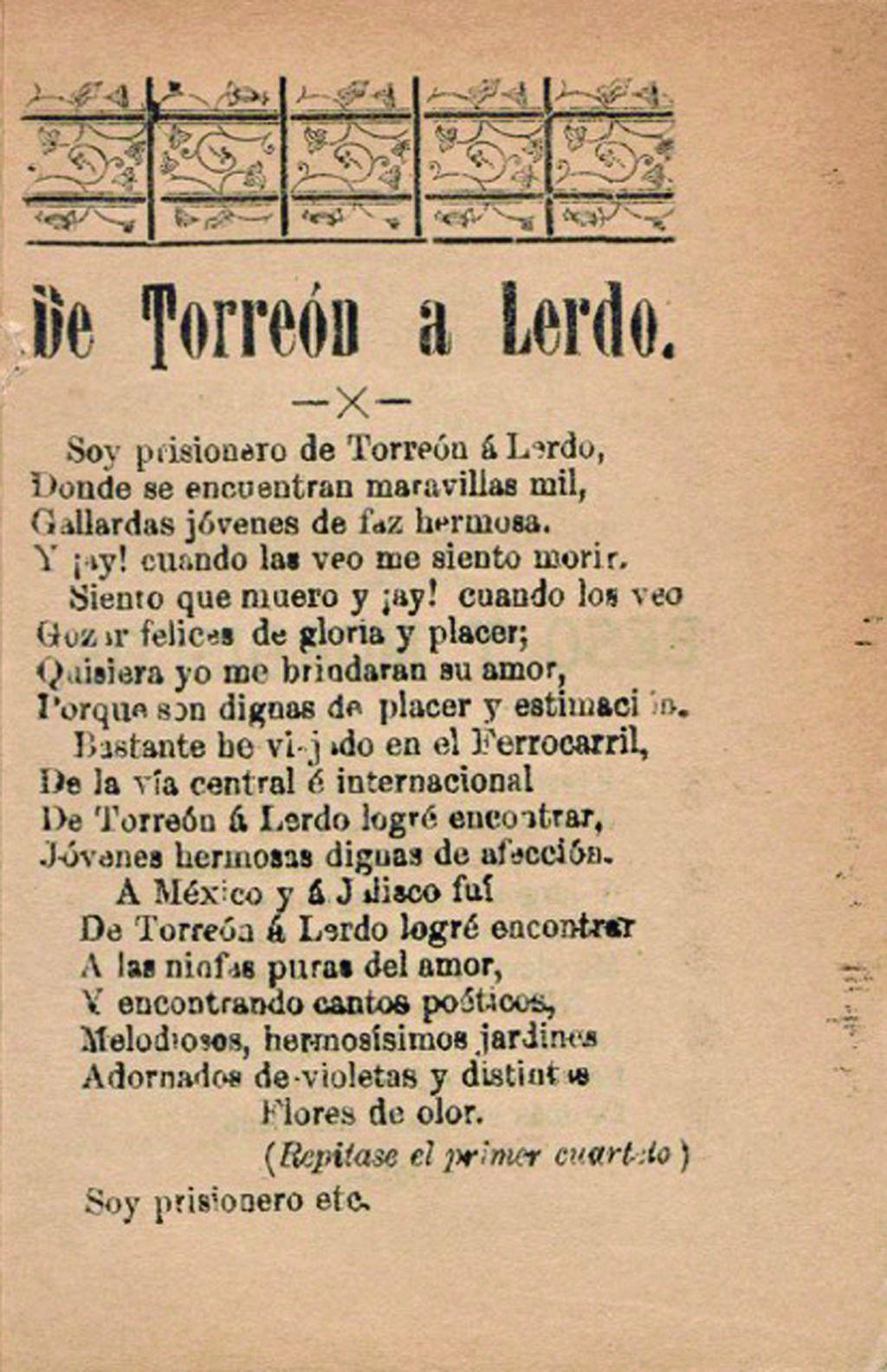 ¿De Torreón a Lerdo o de Lerdo a Torreón?