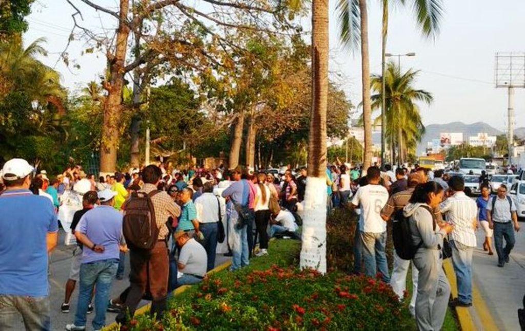 maestros realizan bloqueo acapulco